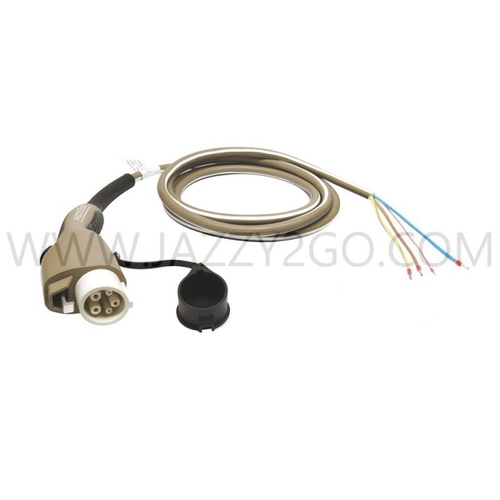 Charging Cable 1 Phase - 32A Car plug Type 1 /  permanent attachment mode 3